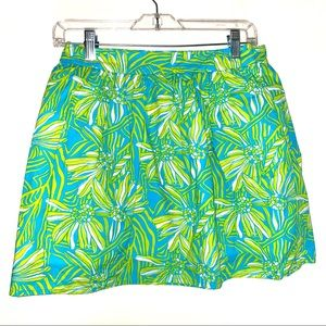 """Lilly Pulitzer 4 skirt 27"""" S lime green turquoise"""